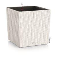 Kvetináč Lechuza Cube Cottage 30 biela so samozavlažovacím setom