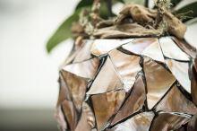 Kvetináč na orchideu SHELL brown mother-of-pearl, 17/24, hnedá